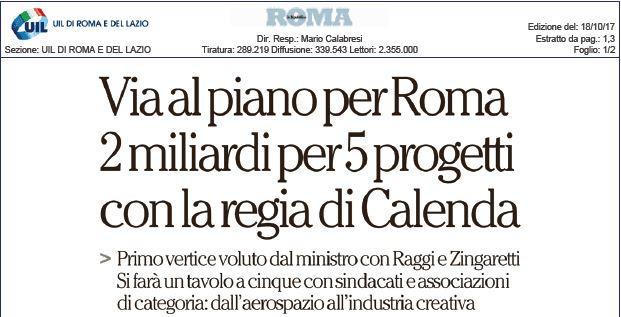 Patto per Roma.  Alberto Civica su Repubblica