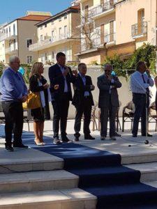 Un momento dell'inaugurazione di Formia