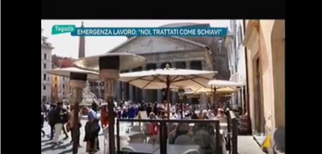 La piaga del lavoro nero a Roma e nel Lazio. Alberto Civica a Tagadà di La7