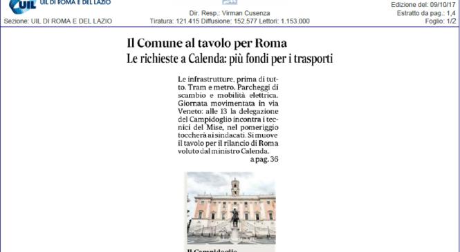 Tavolo per Roma. Alberto Civica sulle pagine del Messaggero