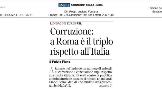 Roma corrotta. I nostri dati sul Corriere della Sera