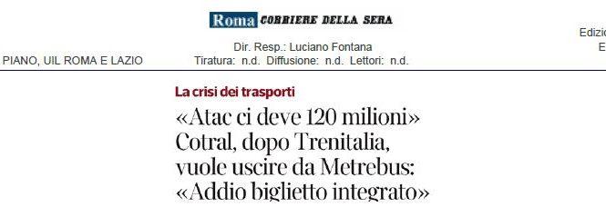 La crisi dei trasporti. Alberto Civica sul Corriere della Sera