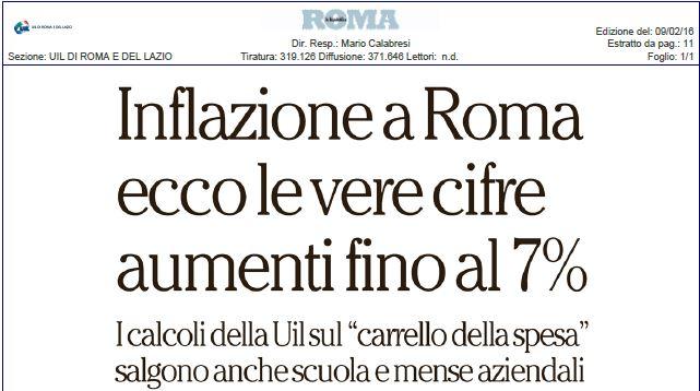 Inflazione a Roma. I nostri dati su Repubblica