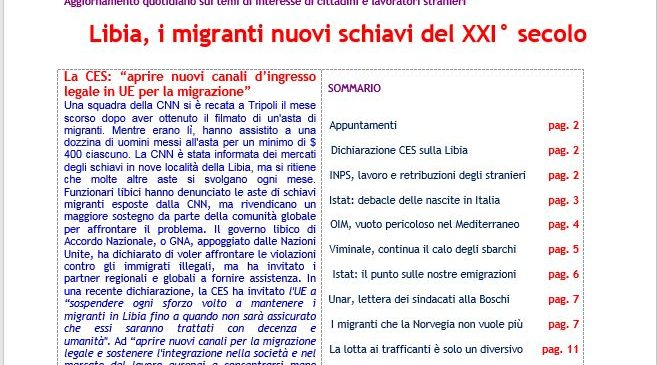 Focus n 28/2017  Libia, i migranti nuovi schiavi del XXI° secolo