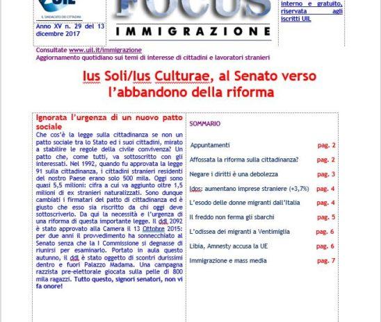 Focus- Ius Soli/Ius Culturae, al Senato verso l'abbandono della riforma