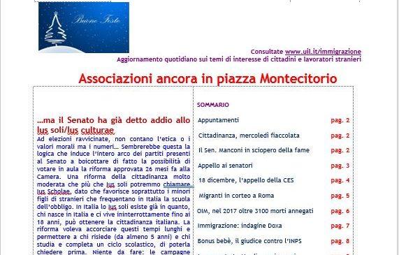 Focus – Associazioni ancora in piazza Montecitorio