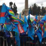 Bandiere a piazza del Popolo