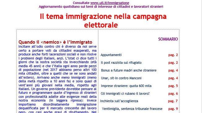 Focus 6_2018 –   Il tema immigrazione nella campagna elettorale