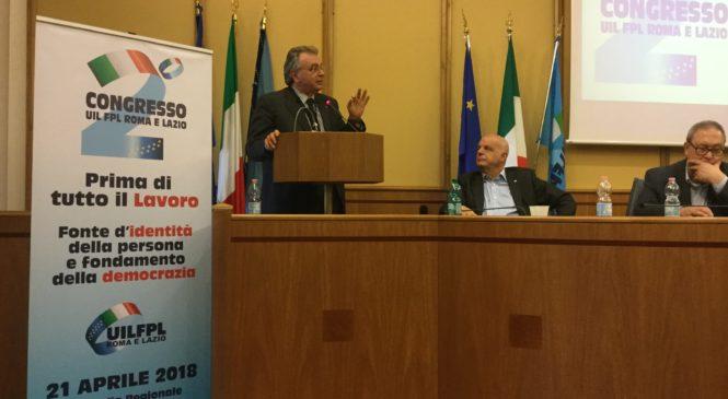 'La forza del sindacato siete voi' Alberto Civica al congresso Uil Fpl