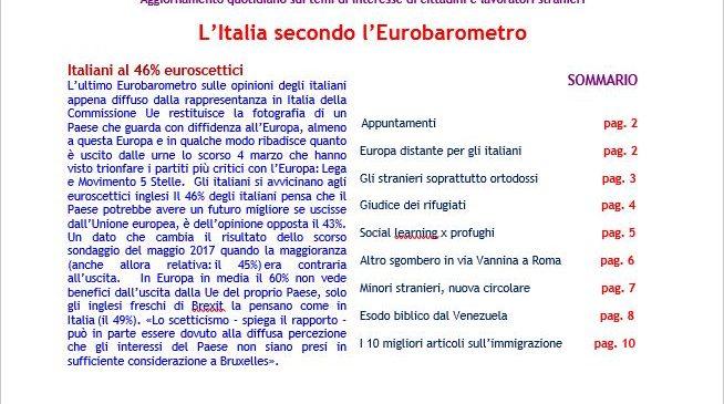 Focus 11_2018 – L'Italia secondo l'Eurobarometro