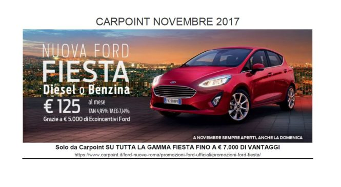 FORD CARPOINT – NOVEMBRE 2017