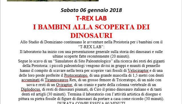 Stadio di Domiziano – T-REX LAB – I BAMBINI ALLA SCOPERTA DEI DINOSAURI