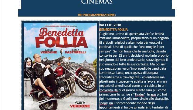 Ferrero Cinemas Newsletter 11.01