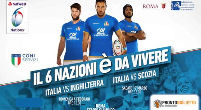 Promo 10% Rugby 6 nazioni Italia vs Scozia