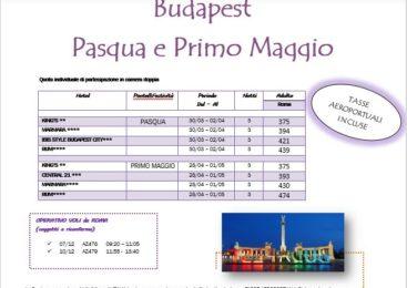 BUDAPEST – Pasqua e Primo Maggio