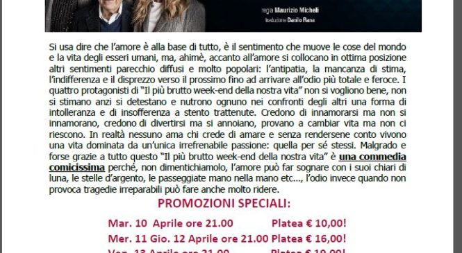 Teatro Parioli – IL PIU' BRUTTO WEEKEND
