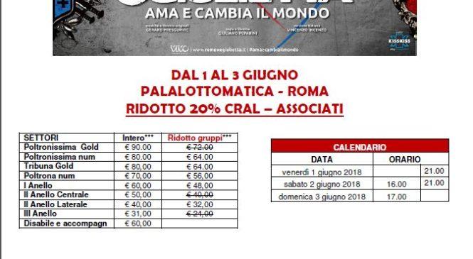 ROMEO E GIULIETTA – PALALOTTOMATICA 1-3 GIUGNO 2018