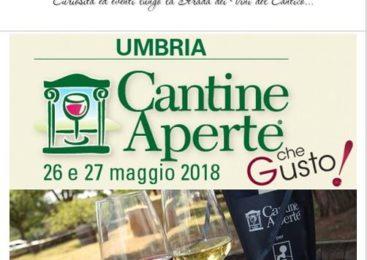 Cantine Aperte Umbria – 26/27 Maggio 2018 – Programmi