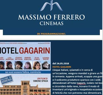 Ferrero Cinemas Newsletter maggio 2018