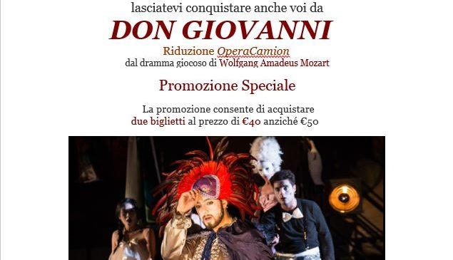 Teatro dell'opera  – Promozione Speciale Don Giovanni Riduzione OperaCamion