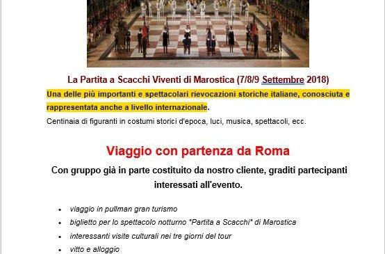 Partita a Scacchi di Marostica (Partenza da Roma)