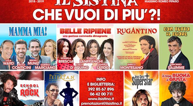 """""""IL SISTINA, CHE VUOI DI PIÙ?!"""" LA NUOVA STAGIONE 2018-19"""