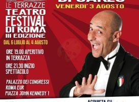 Alessandro DI CARLO 3 AGOSTO da €16 – Le Terrazze EUR
