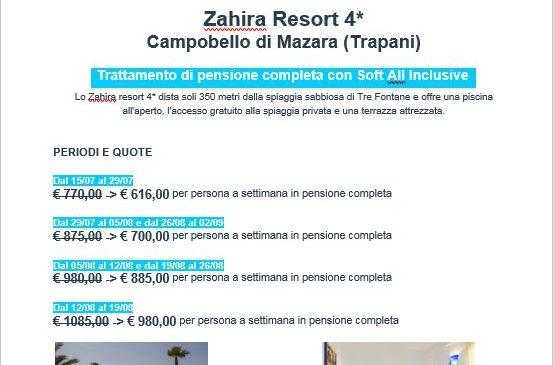 Zahira Resort 4* (Campobello di Mazara – TRAPANI)