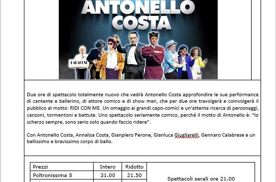 Scheda spettacolo: Antonello Costa, Balletto del Sud – Teatro Olimpico