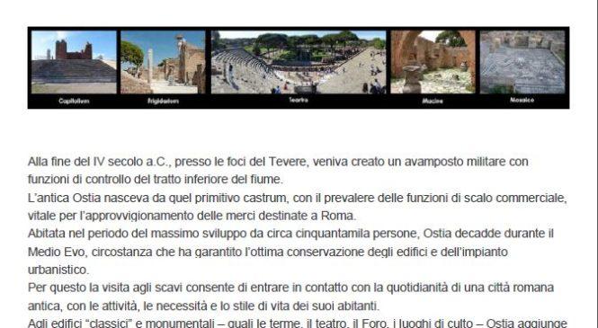 Crociera sul Tevere e visita agli scavi di Ostia Antica