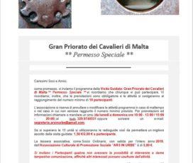 Gran Priorato dei Cavalieri di Malta ** Permesso Speciale **