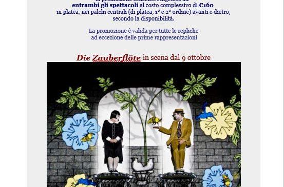 Teatro dell'Opera – Promozione Speciale: Autunno in Mozart Die Zauberflöte – Le nozze di Figaro