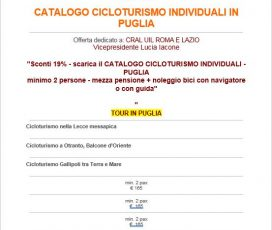 Catalogo individuali CICLOTURISMO in Puglia
