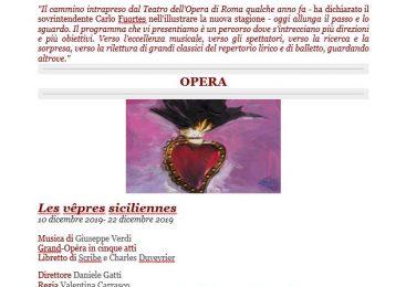 Stagione di Opera e Balletto 2019/2020