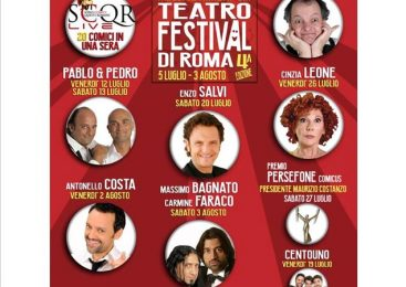 Terrazze Teatro Festival – APERITIVO -SPETTACOLO – DISCOTECA! Tutto in unico biglietto!