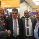 Felice Alfonsi e Francesco Fatiga con la delegazione palestinese