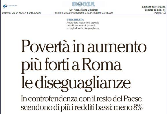 Povertà in aumento. Il nostro dossier su Repubblica