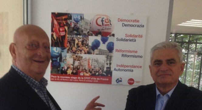 La UIL al 55° congresso della Unione regionale Cfdt– Ile de France