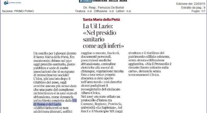 La nostra inchiesta sul Santa Maria della Pietà sul Corriere della Sera