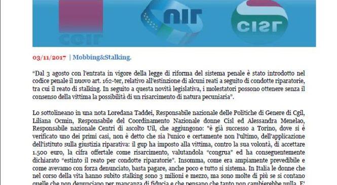 Cgil Cisl Uil: Governo mantenga l'impegno per rapida approvazione del Ddl Puglisi