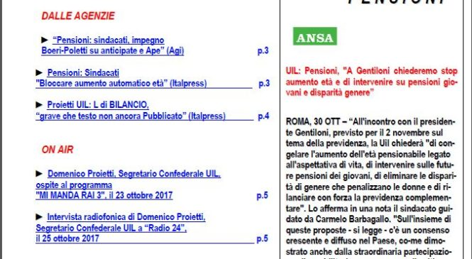 Osservatorio Previdenziale – n. 18/2017