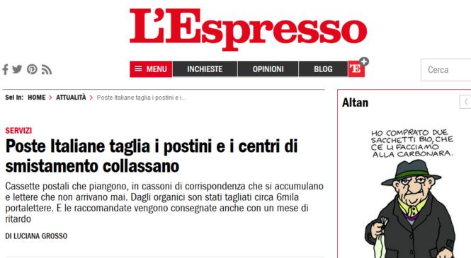 Poste Italiane taglia i postini e i centri di smistamento collassano