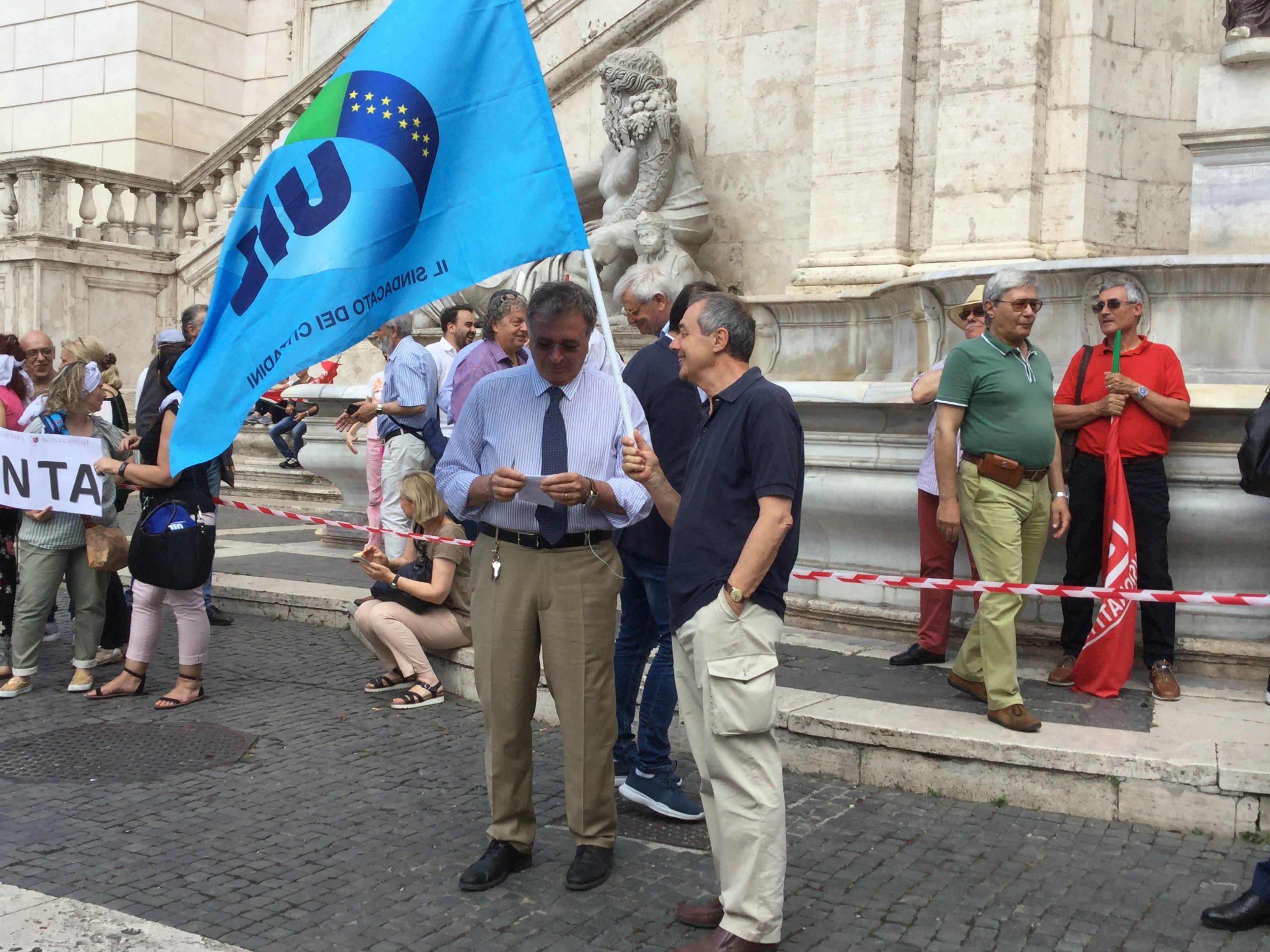 """Rilanciamo Roma. Alberto Civica al sit in """"Quanto eri bella Roma"""""""