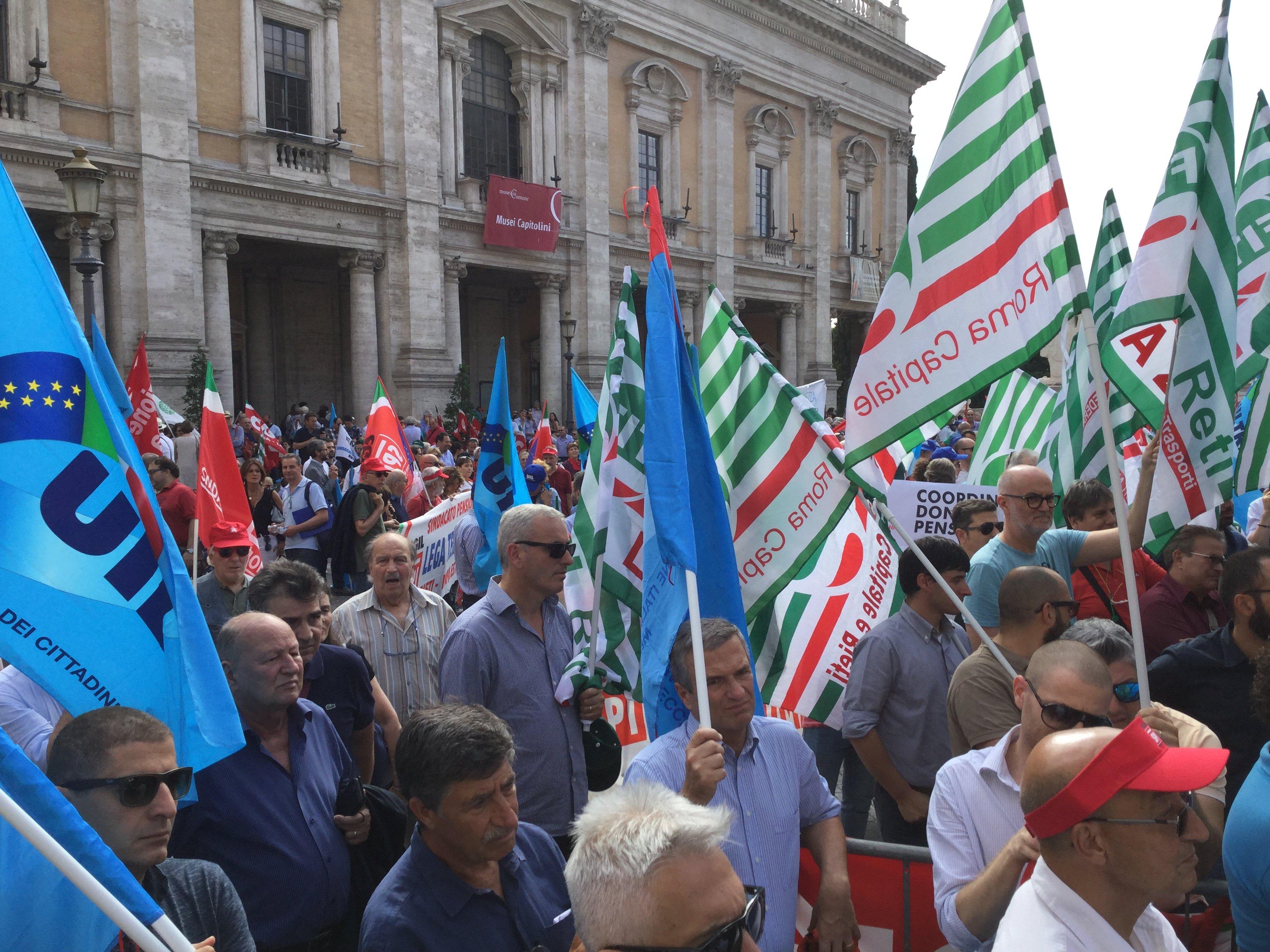"""Il servizio del Tg3 Lazio sul sit di Cgil, Cisl e Uil """"Quanto eri bella Roma"""""""