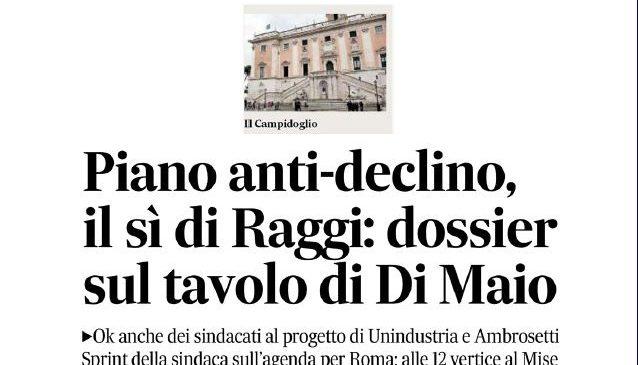 Piano contro il declino di Roma. Alberto Civica sulla cronaca del Messaggero