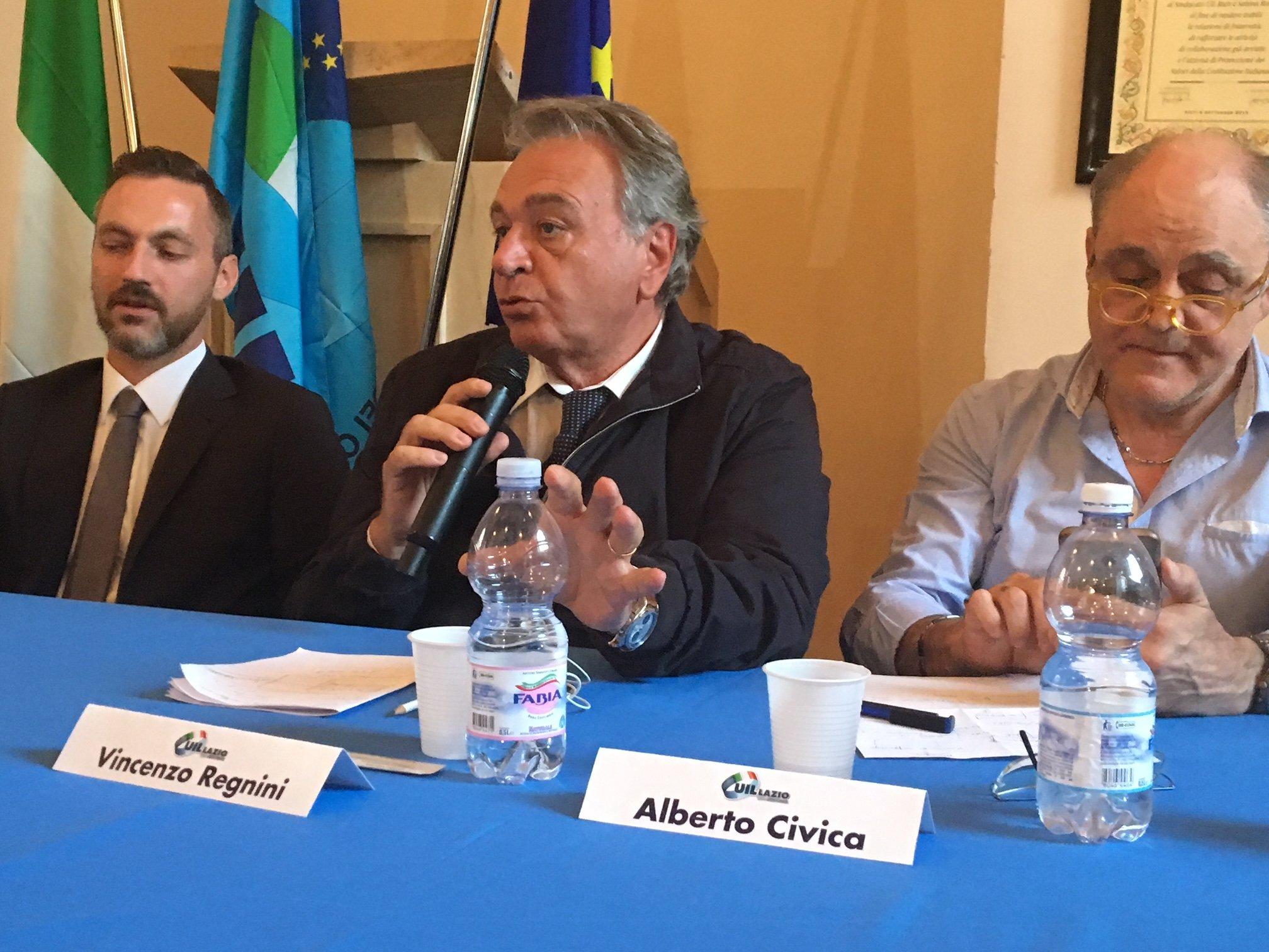 Alberto Civica: 'L'impegno civile, morale e sindacale di tutti i giorni'.