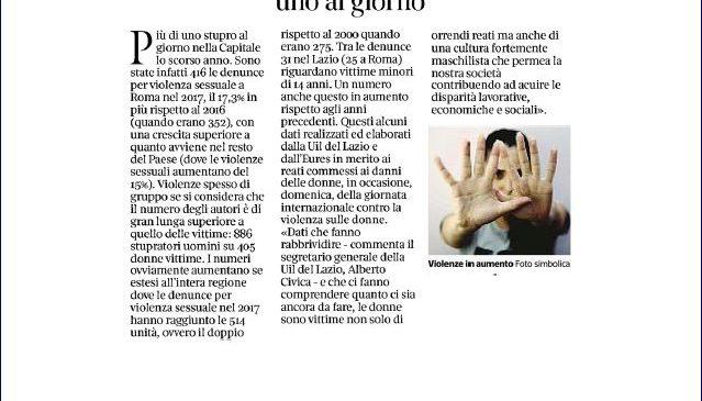 Femminicidi. I nostri dati sulle pagine del Corriere della Sera