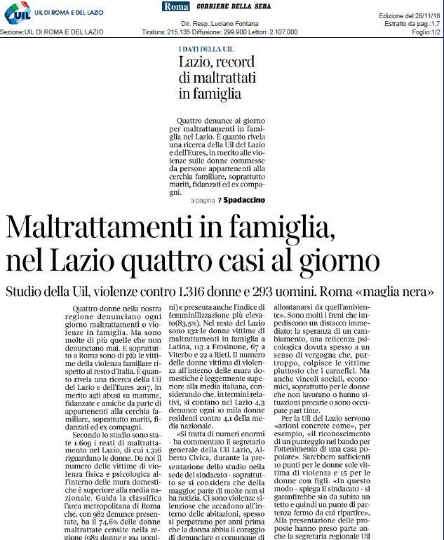 Lazio violento. I nostri dati sul Corsera