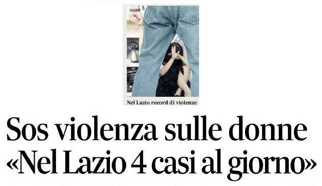 Violenza sulle donne. La Uil del Lazio sul Messaggero
