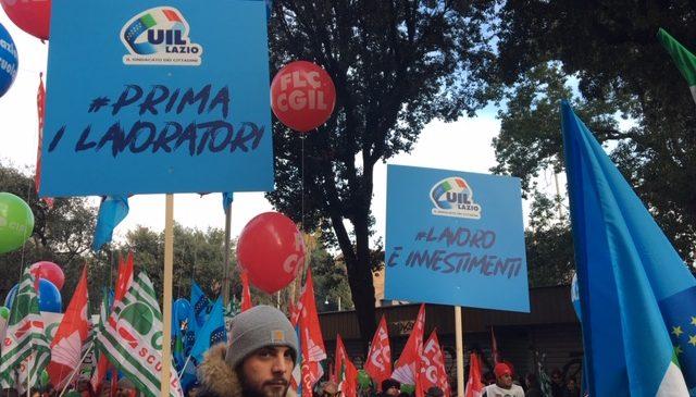 La Uil del Lazio alla manifestazione nazionale #FuturoalLavoro